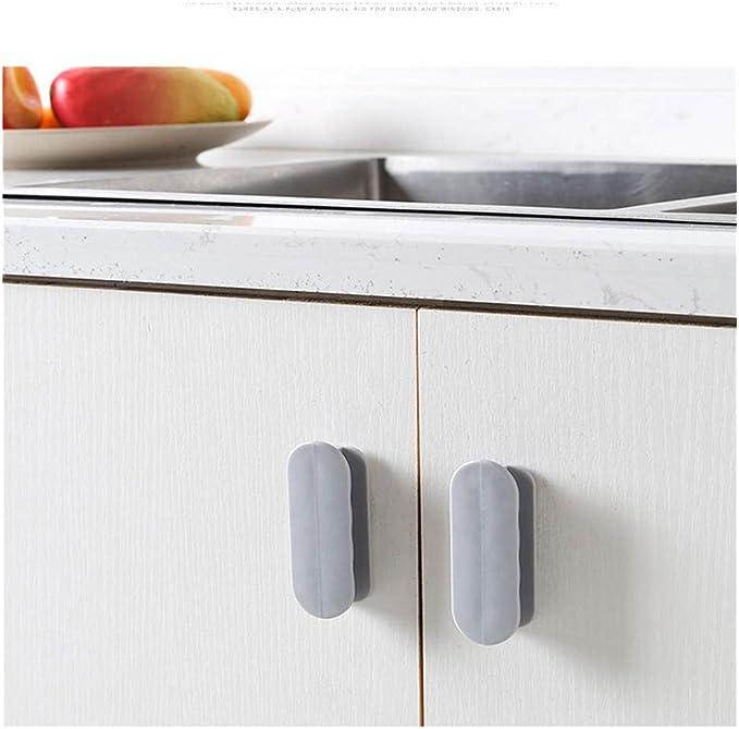 2pcs Door Handle Window Cabinet Drawer Wardrobe Self-adhesive Handle Furniture