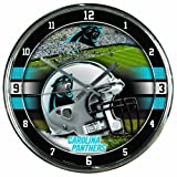 CAROLINA PANTHERS NFL CHROME ROUND CLOCK by WinCraft