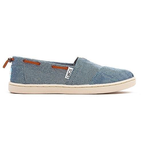 TOMS - Zapatillas de lona para niña azul azul, color Beige, talla 1 UK: Amazon.es: Zapatos y complementos