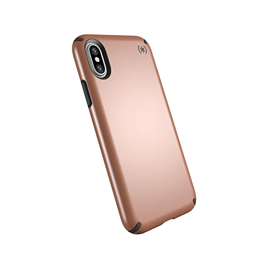low priced 707b7 3f9b8 Speck Products Compatible Phone Case for Apple iPhone Xs and iPhone X,  Presidio Metallic Case, Bronze Copper Metallic/Slate Grey