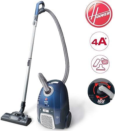 Aspirapolvere Hoover Telios Extra Casa Scopa Elettrica Potenza 550W A+ Doppia Potenza Selezionabile Sacchetto 3,5L con Accessori