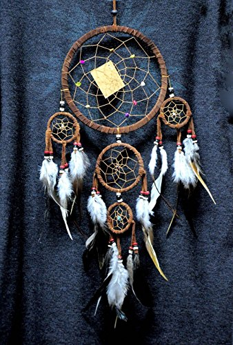 AP Shop,Dream Catcher brown wall hanging decoration bead