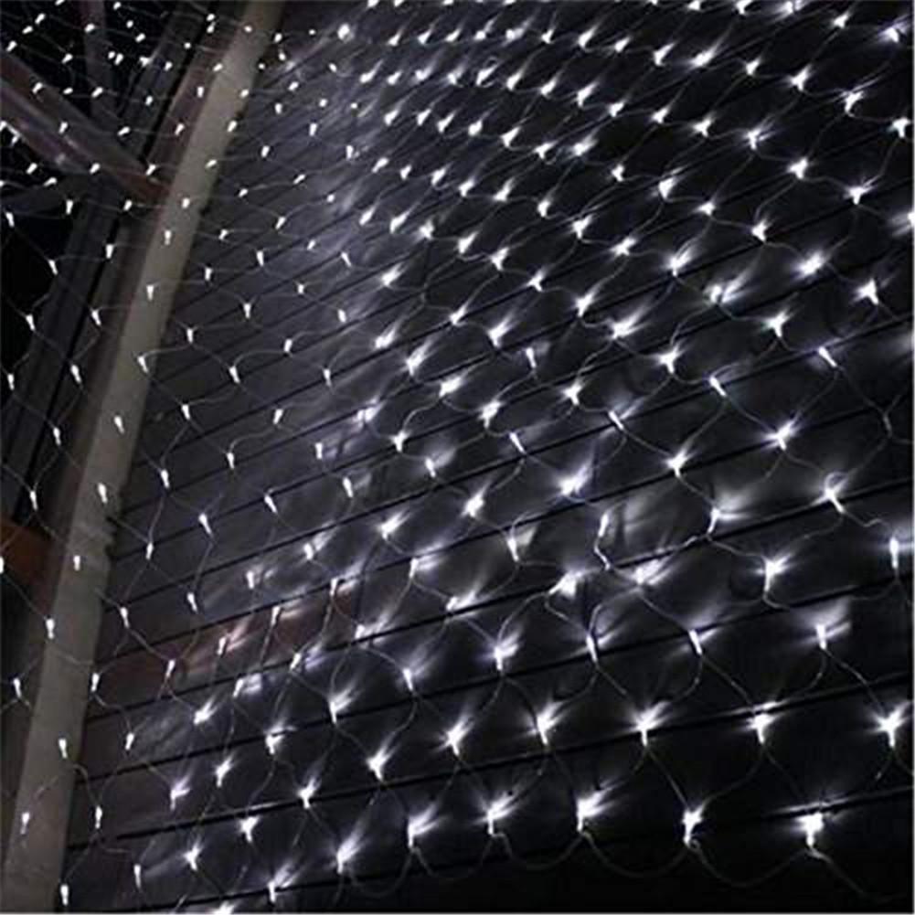 LY-JFSZ 4  6M 680 luci Rete Netta di Pesca Luce Lanterna Natale Luce Netta LED Net Lamp luci Lanterna Interni ed Esterni Stringa Lampada Partito 8 modalità (con Inserti a Coda), bianca