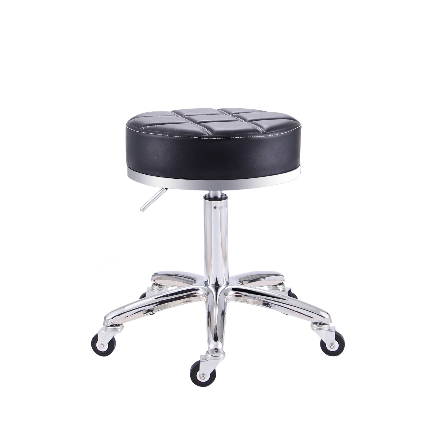 Rfiver Modern PU Leather Relief Hydraulic Adjustable Swivel Drafting Stool Chair for Salon Spa Massage Kitchen Office Shop Club Bar in Black SC1004-1 by Rfiver (Image #6)