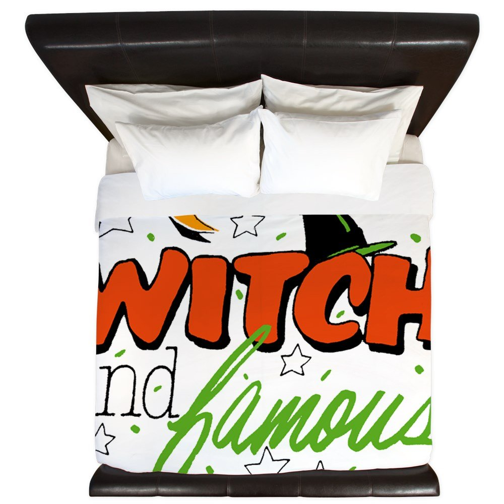 King Duvet Cover Halloween Witch and Famous Hat