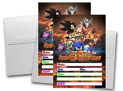 12 Sonic Fuerzas Tarjetas De Invitación De Cumpleaños 12