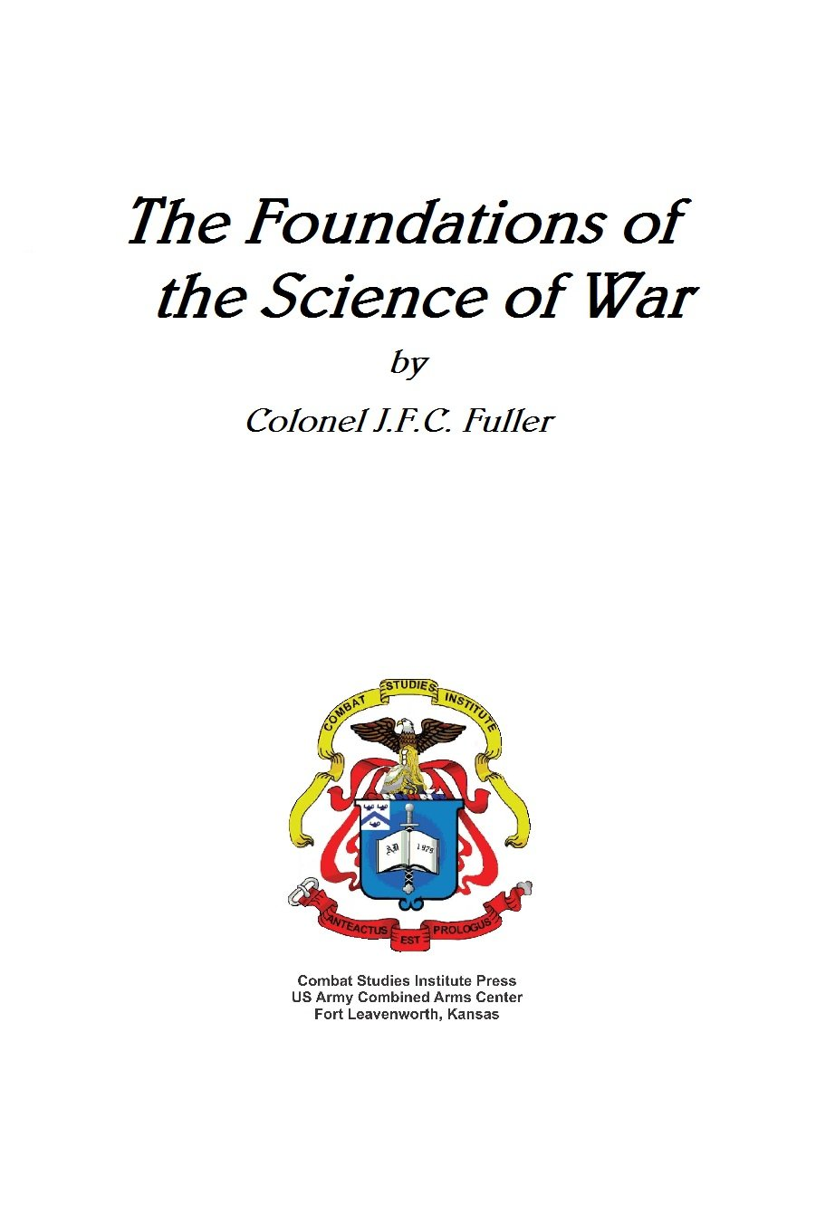 Download Foundations of the Science of War (CSI) pdf epub