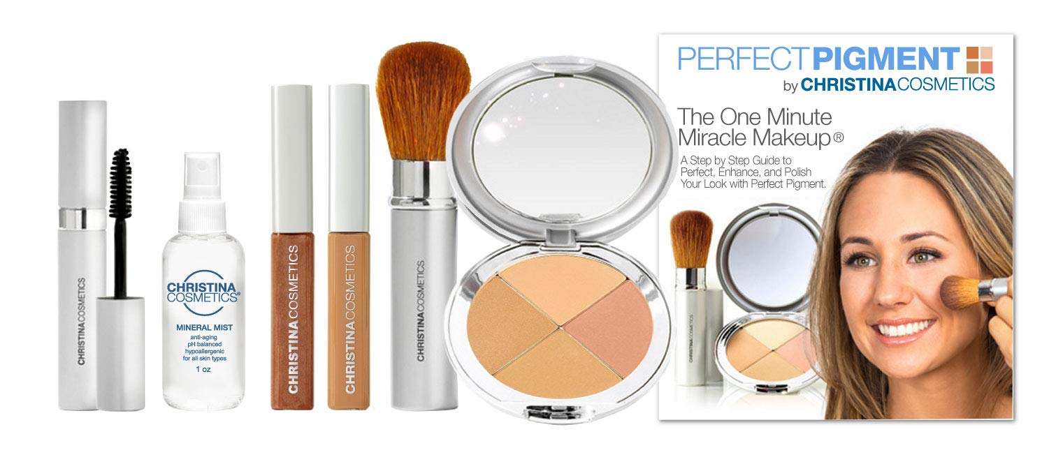 Christina Cosmetics Perfect Pigment 3: FULL SIZE 7 PIECE KIT - For Rich tan to Medium Caramel complexions