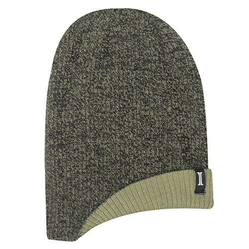 Ash Cap Reversible Jacob (Igloos Men's 4-in-1 Lightweight Marled Slouch Beanie, Ecru/Anthracite, One Size)