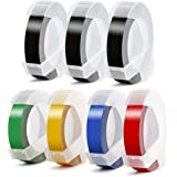 Aken Compatible Label Tape Replacement for Dymo Embossing Label Maker Tape 3D Plastic Labels Colored Embossing Tape for Organ