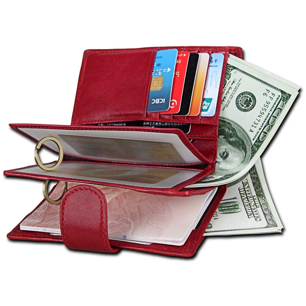 Wallets Blocking Mens Wallet Color : Black Bifold Leather Wallet Slim Gift Boxed Credit Card Protector Wallet Travel Thin