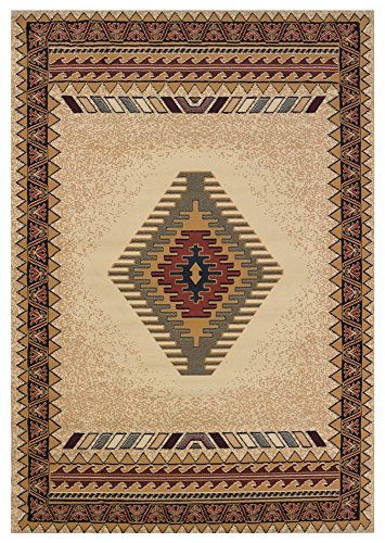 - United Weavers of America Tucson Area Rug in Cream (7 ft. 4 in. L x 1 ft. 11 in. W)