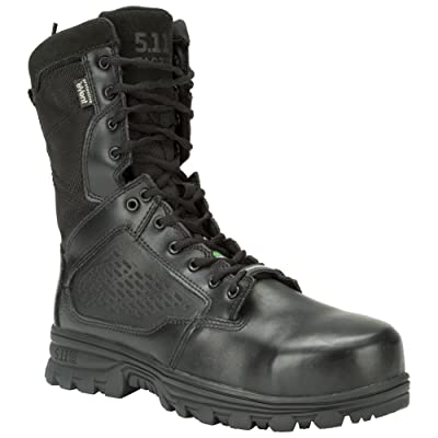 "5.11 Men's Evo 8"" Side Zip, Composite Safety Toe Boot Military & Tactical: Shoes"