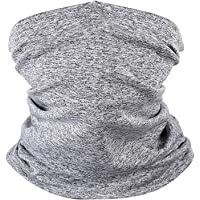 2PCS Seamless Face Cover, Riding Sunscreen Scarf Dustproof Neck Gaiter Windproof Scarf Breathable Wide Wicking Headbands Face Cover Replacement Filter Pad Could Be Placed