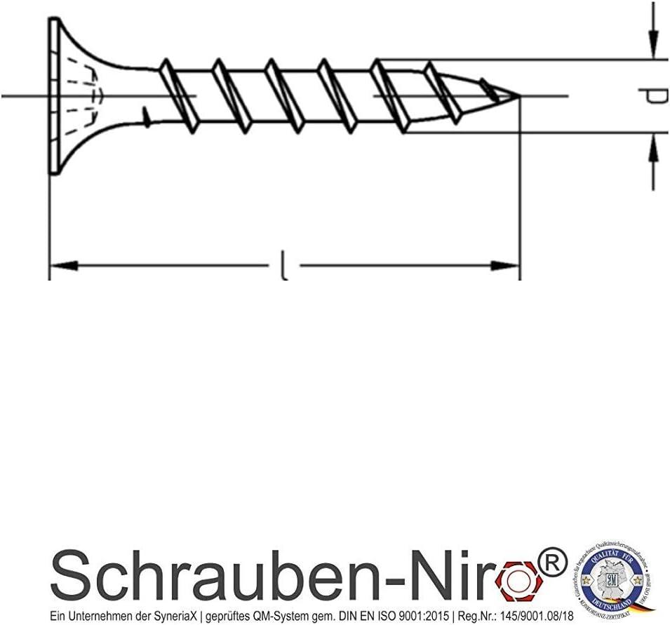 Rigipsschrauben Schnellbauschrauben Trockenwandschrauben Gipsplattenschrauben phosphatiert mit Bohrspitze d: 3,5mm, l: 25mm, 1000
