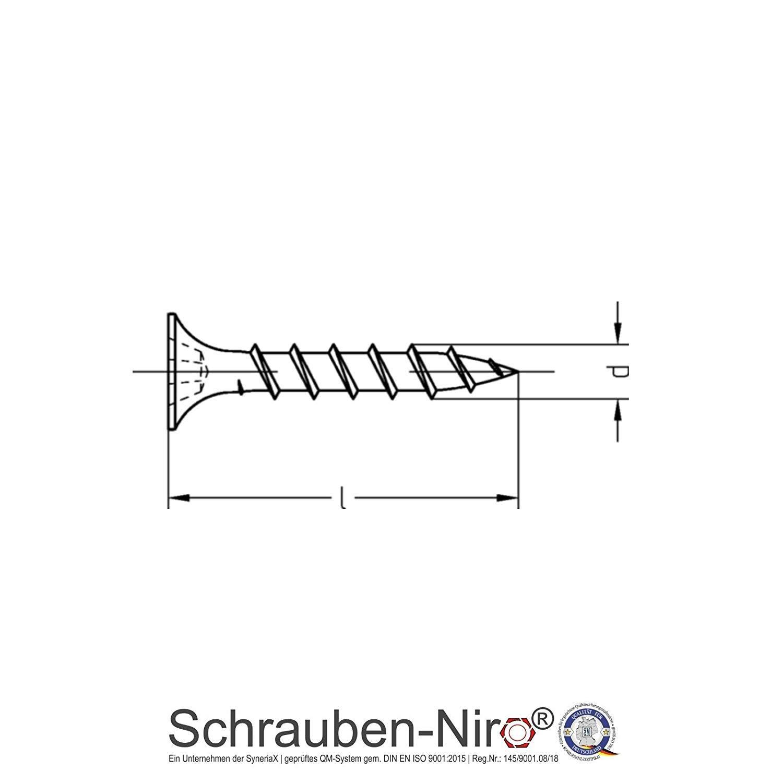 200 St/ück 3,9 x 25 mm Schnellbauschrauben Rigipsschrauben Trockenbauschrauben gratis Tiefenstopp-Bit je 1 Bit pro Bestellung