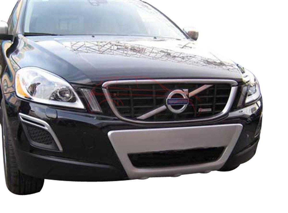 Ajuste para Volvo XC60 XC 2008 - 2012 cromado ABS delantero parachoques trasero Junta Skid placa Bar Guardia: Amazon.es: Coche y moto