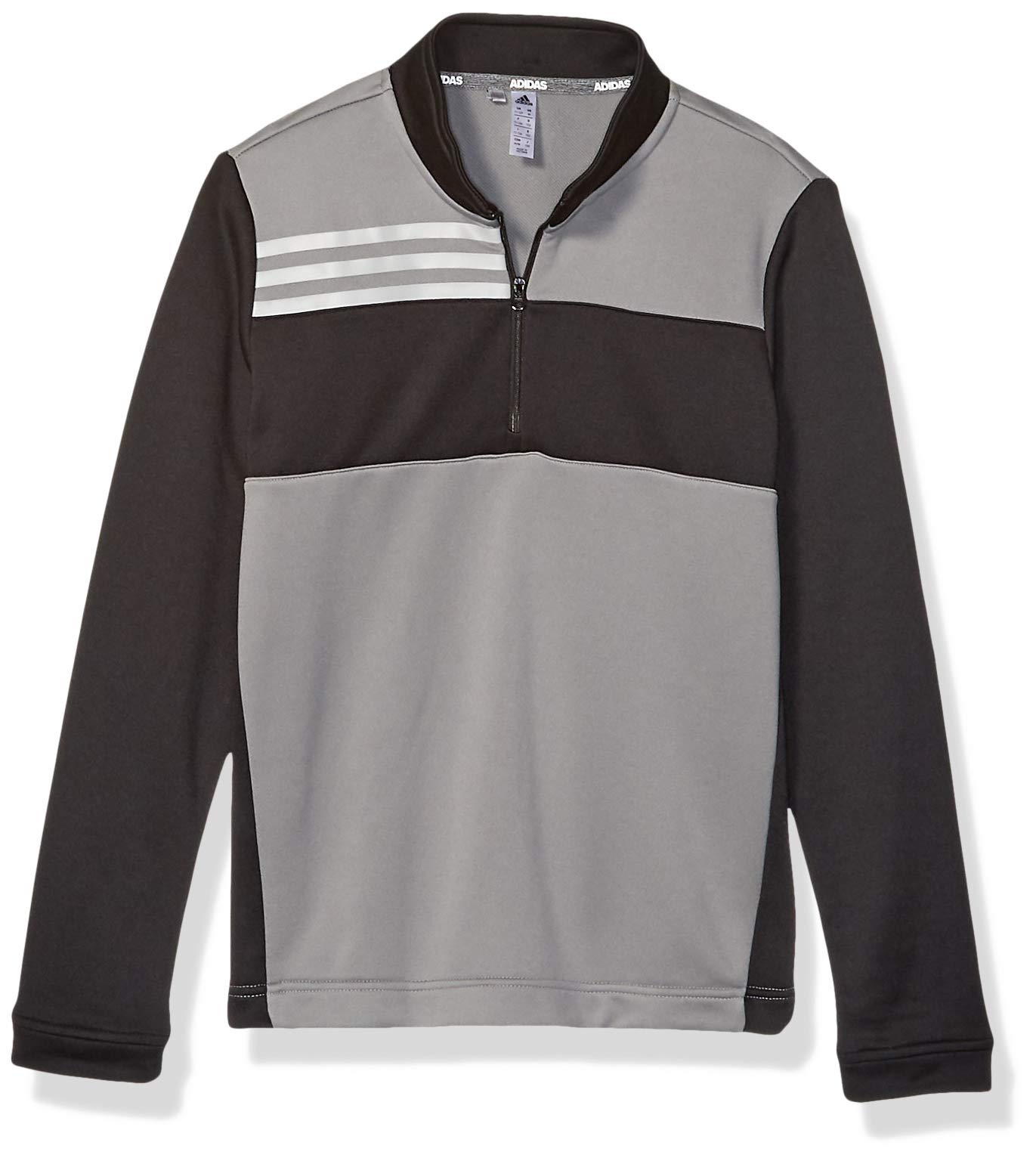 adidas Golf Color Blocked Half Zip Layer, Grey Three, Large by adidas