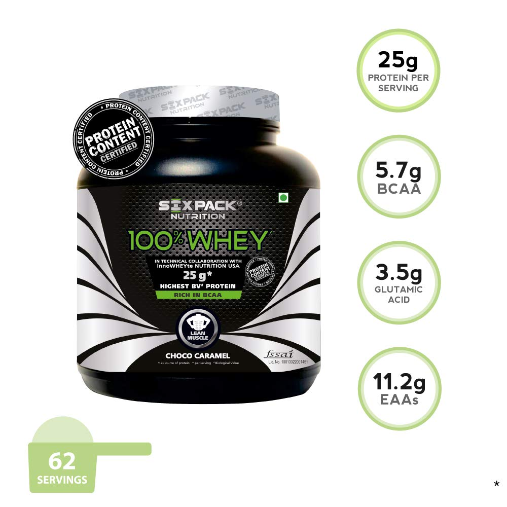 Six Pack Nutrition 100 Whey Protein 2 Kg Choco Caramel Amazon Pigeon Kids Hair Body Wash Liquid Strawberry Grape Refill 350ml Health Personal Care