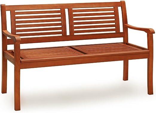 320kg panchina da esterno balcone terrazza arredo giardino Deuba Panca da giardino Bologna 2 posti Certificato FSC/® legno di eucalipto carico max