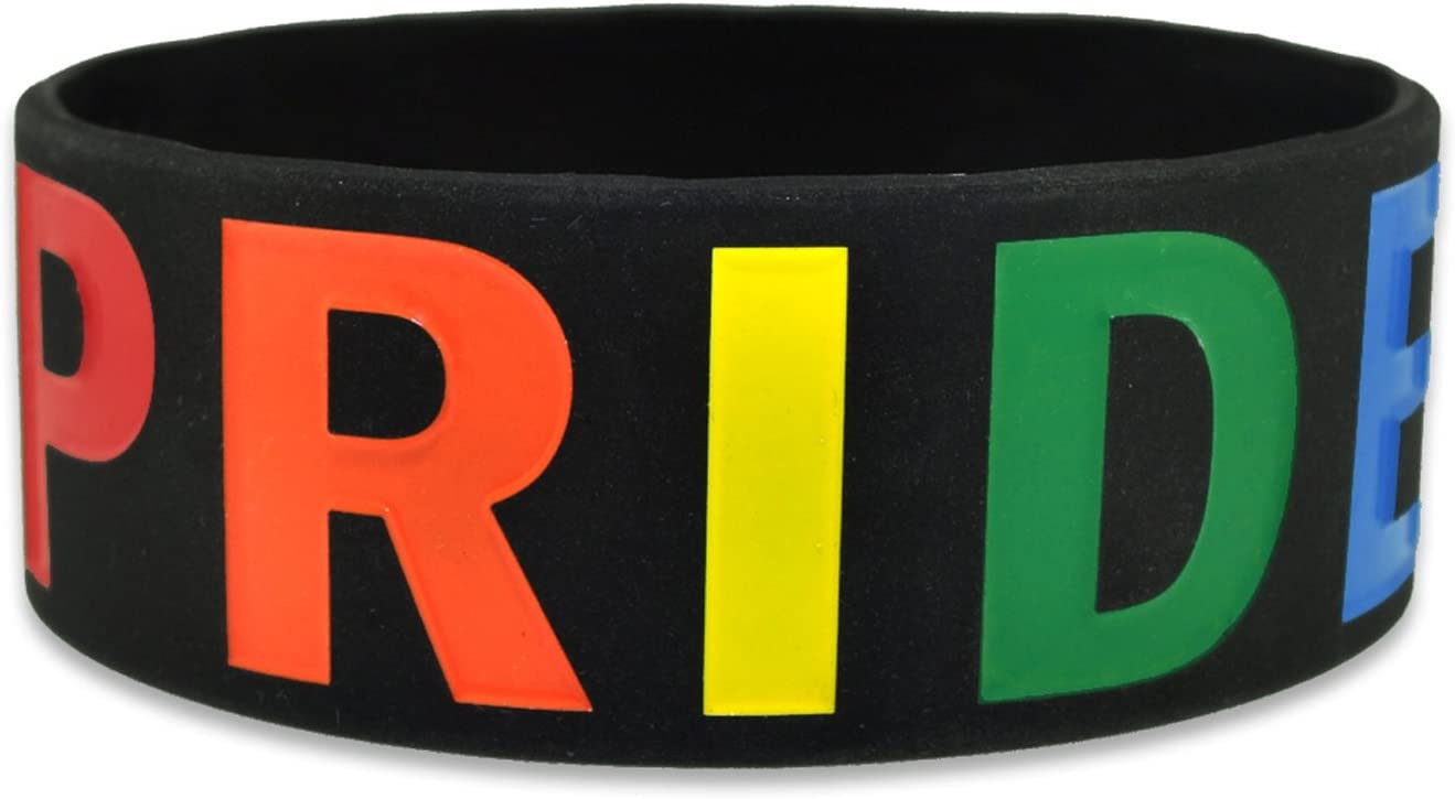 Bisexual Flag Colours Debossed Pride Silicon Rubber Wristband