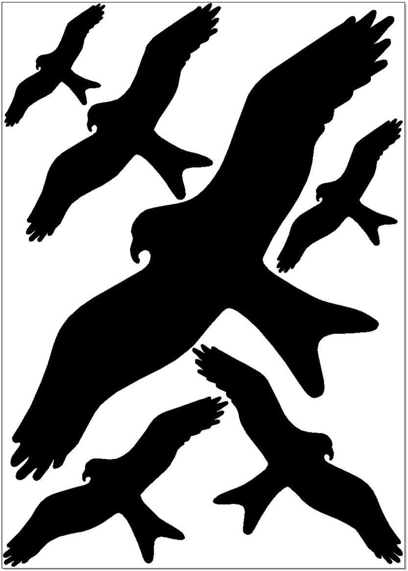 Vogel Aufkleber Gegen Vogelschlag Zur Vogelabwehr Warnvögel Als Vogelschutz 6 Vogelschreck Aufkleber Auf A4 Blatt Fensterschutz Gegen Glasbruch Hochwertige Langzeitfolie Für Den Außenbereich Garten