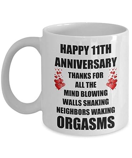 Amazon 11 Year 11th Wedding Anniversary Marriage Sexy Funny
