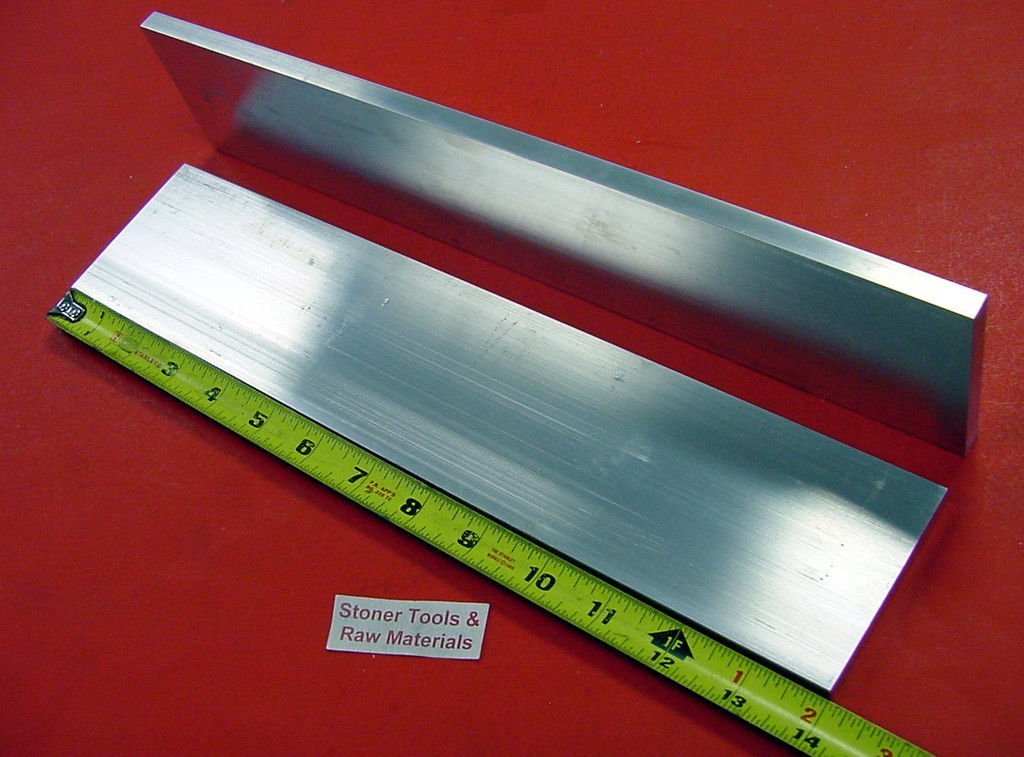 "2 Pieces 2/"" X 3/"" ALUMINUM 6061 FLAT BAR 18/"" long T6511 Solid Plate Mill Stock"