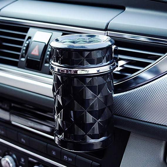 Organizador para asiento trasero, luz LED para coche, cenicero de viaje, coche, cigarrillos, cenizas blanco: Amazon.es: Hogar