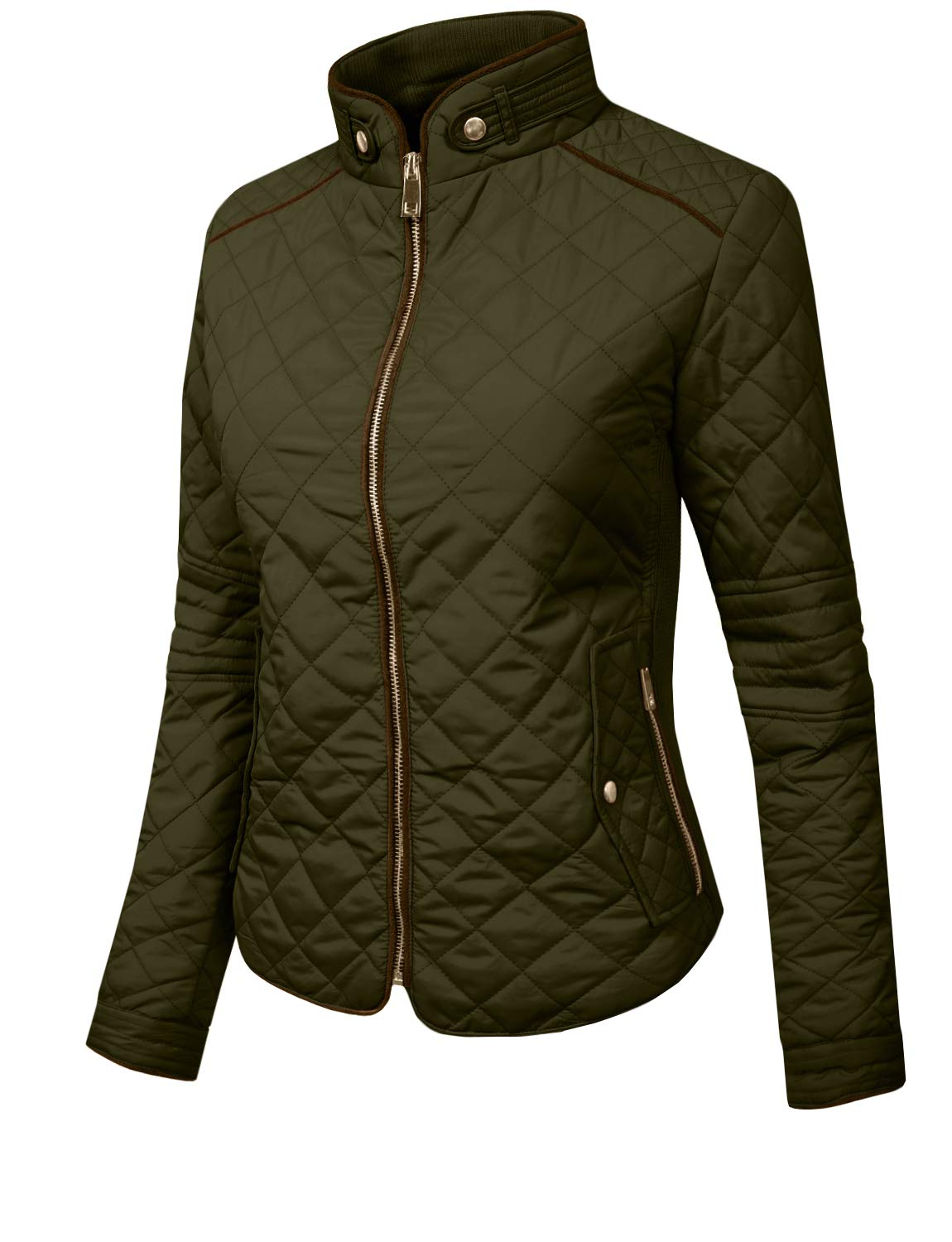 J. LOVNY Womens Lightweight Quilted Warm Zip Jacket/Vest with Pocket Details by J. LOVNY (Image #2)