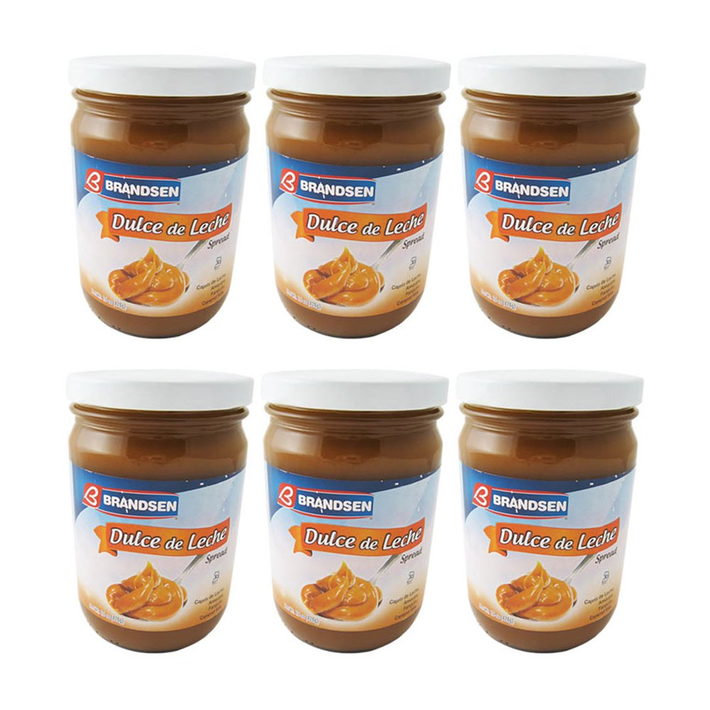 Amazon.com : 6 Jars Brandsen Dulce De Leche Milk Caramel Spread Argentina Kosher Arequipe Lot : Office Products