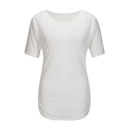 Beauty7 ES 34 Camisetas Mujeres Cuello Barco Manga Corto Bat Algodon Casual Bodycon Sudadera Dolman ...