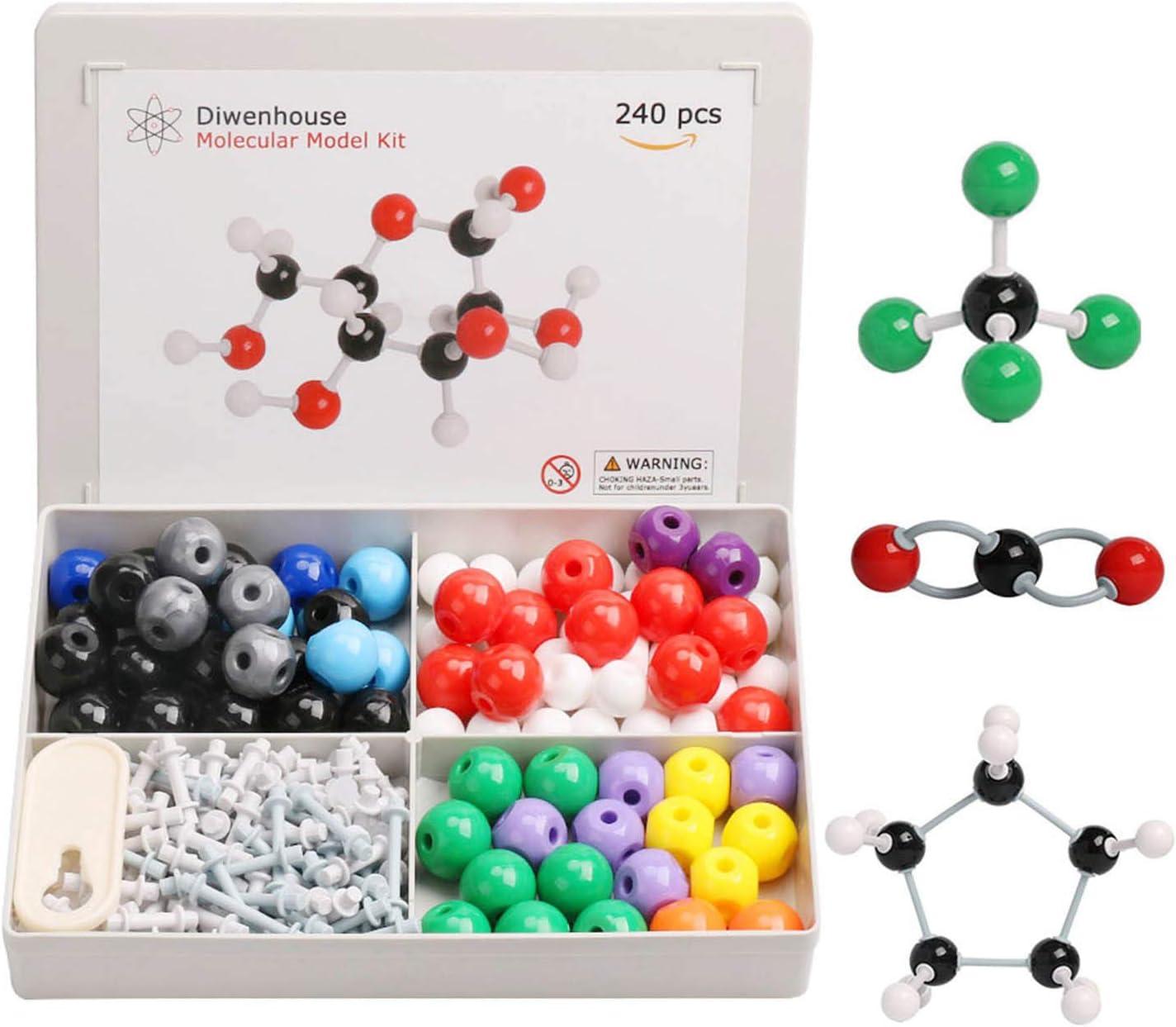 307 Pcs Molecular Model Kit Organic/&Inorganic Chemistry Aid Molecular Model Set