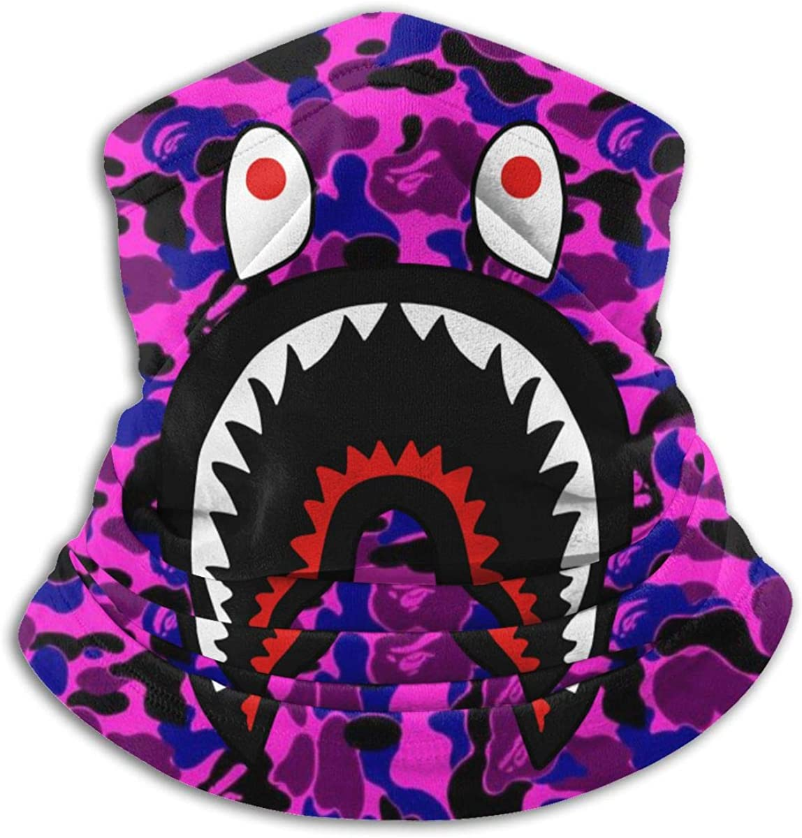Bape Shark Half Blue Camo Neck Gaiter Warmer Windproof Mask Dust Face Clothing Free UV Face Mask