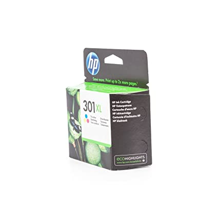 HP 301XL Tri-color Ink Cartridge - Cartucho de tinta para impresoras (Cian, magenta, Amarillo, Tri-color, Inyección de tinta, 20-80%, -40-60 °C, 15-32 ...