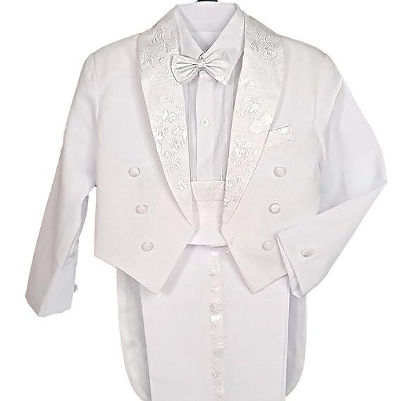 146a64970 Dressy Daisy Baby Boys  Classic Tuxedo w Tail 5 Pcs Set Christening ...