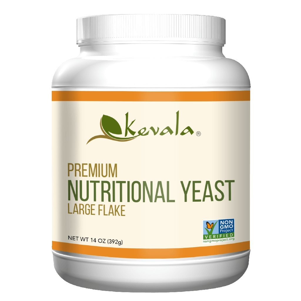 Kevala - Nutritional Yeast Delicious Vegan Seasoning - Low Sodium, Non-GMO, Gluten-Free, and Kosher - 14 Ounce