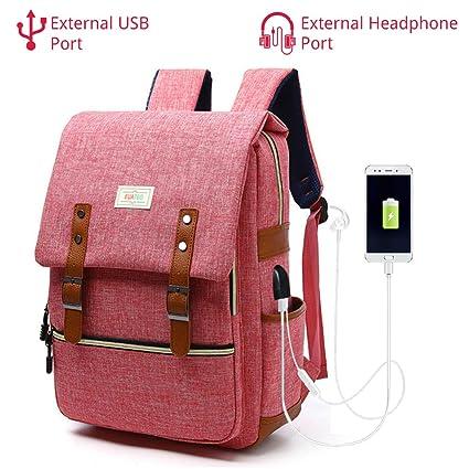 61a9f7255 Mochila para portátil de negocios con interfaz de carga USB, Bolsa para  portátil de viaje de ...