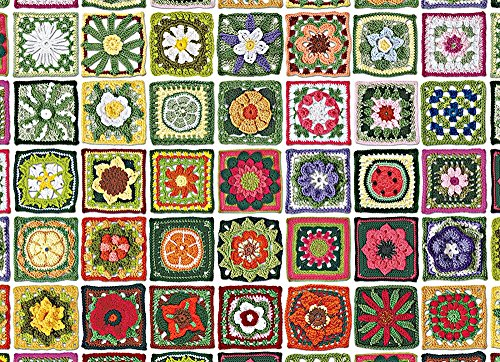 """Outset Media 1000 Pieces Jigsaw Puzzle, 10 x 14"""", Granny Squares"""