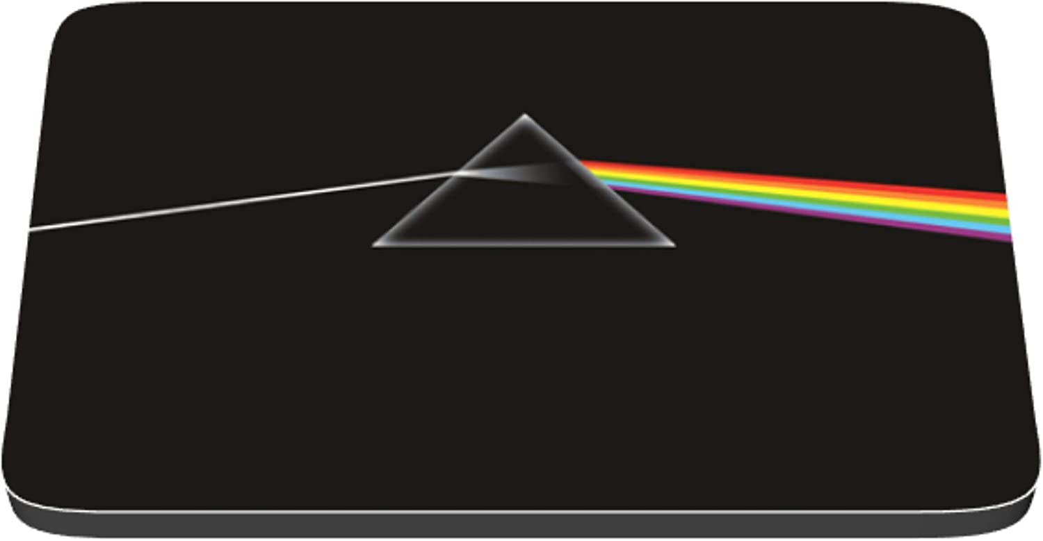 Pink Floyd Dark Side of the Moon Album Cover Reproduced on cloth topped rubber Mouse Pad