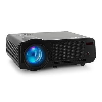 Auna lcdp-hd-q-2000-b Proyector LED (Full HD, puertos HDMI, USB ...