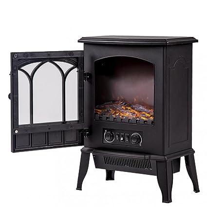 Amazon Com Buy Joy 750w 1500w Standing Electric Fireplace Heat Log