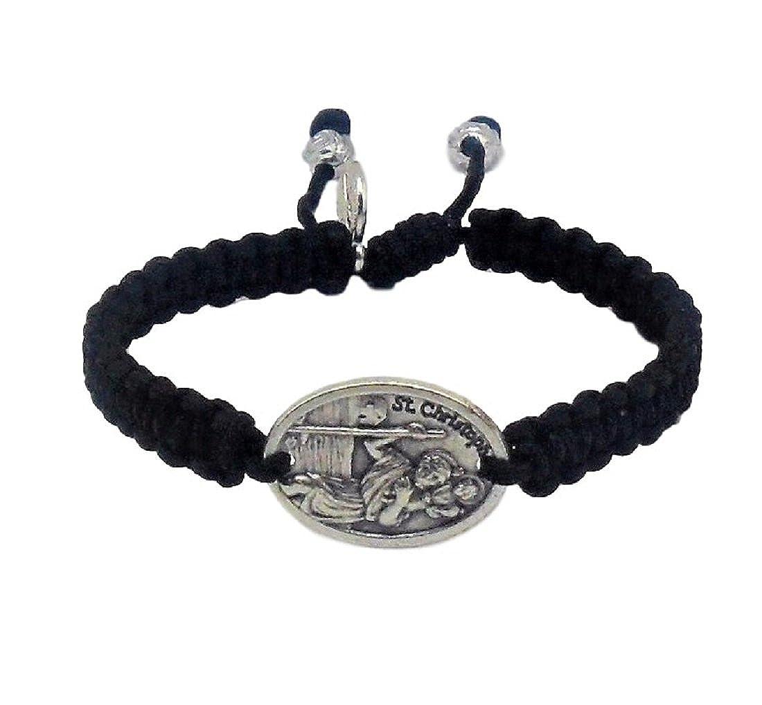 Catholic Saints Bracelet/St Christopher/St Mary/St Benedict/Handmade in Medjugorje MedjugorjeStoneGifts