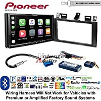 Volunteer Audio Pioneer AVH-2440NEX Double Din Radio Install Kit with Apple CarPlay, Android Auto and Bluetooth Fits 2000-2005 Cadillac Deville, 1996-2004 Seville With Bose