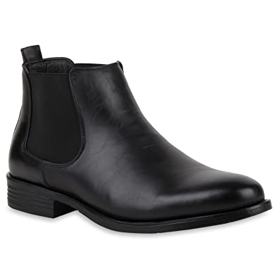 Stiefelparadies Herren Chelsea Boots Profilsohle Flandell