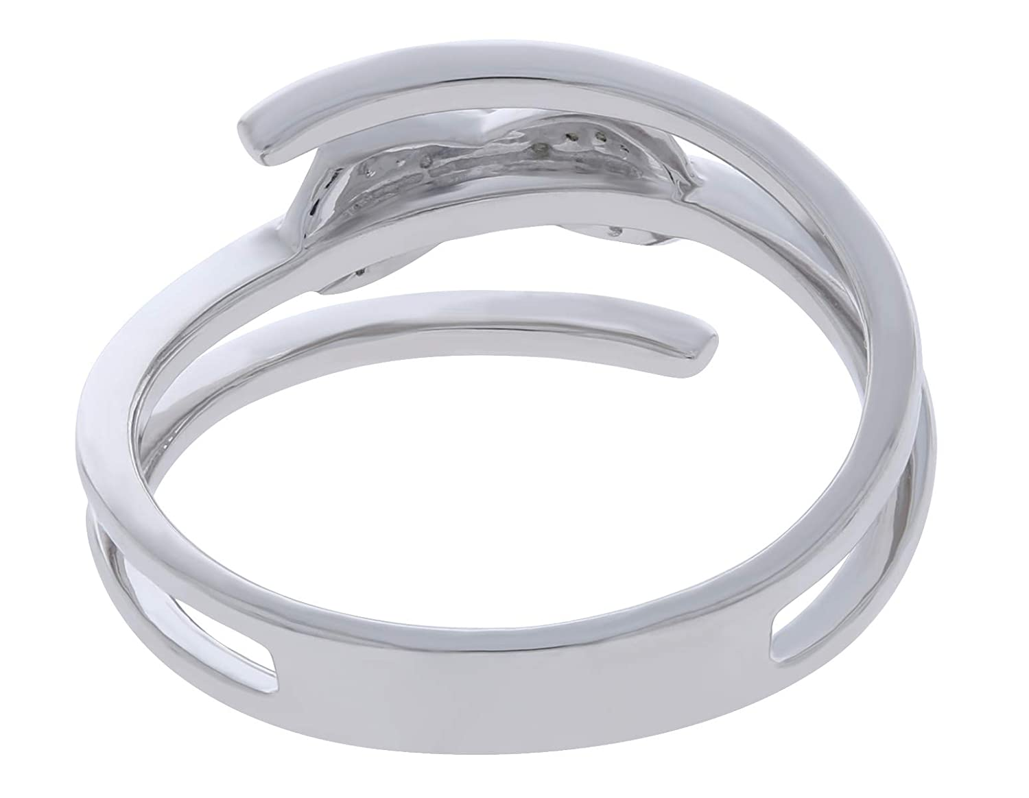 Prism Jewel 0.04Ct G-H Natural Diamond Promise Style Wrap Ring