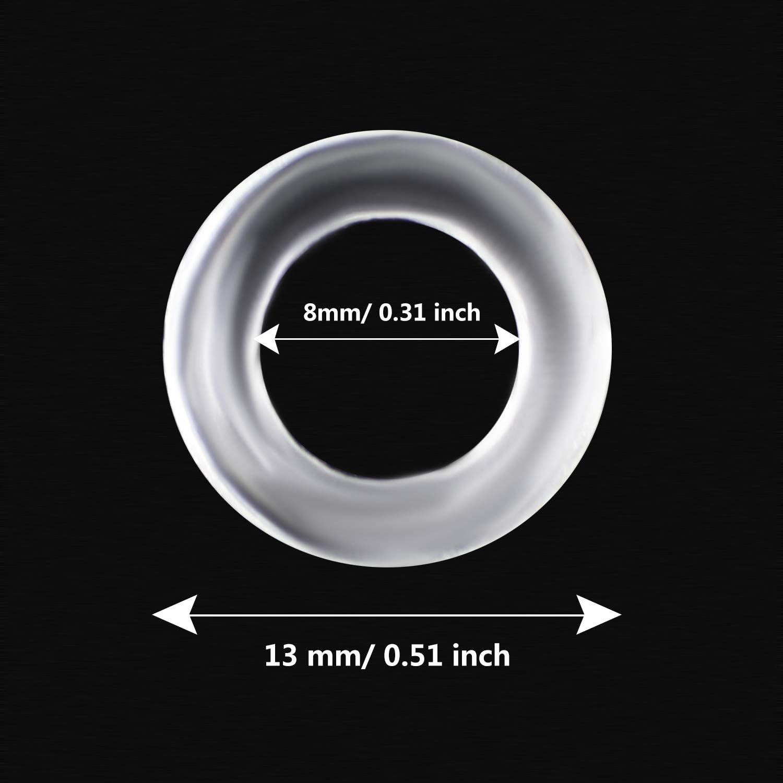 Quzhou Lot de 200 Anneaux en Plastique Transparent pour Store Romain 13 mm 13 mm