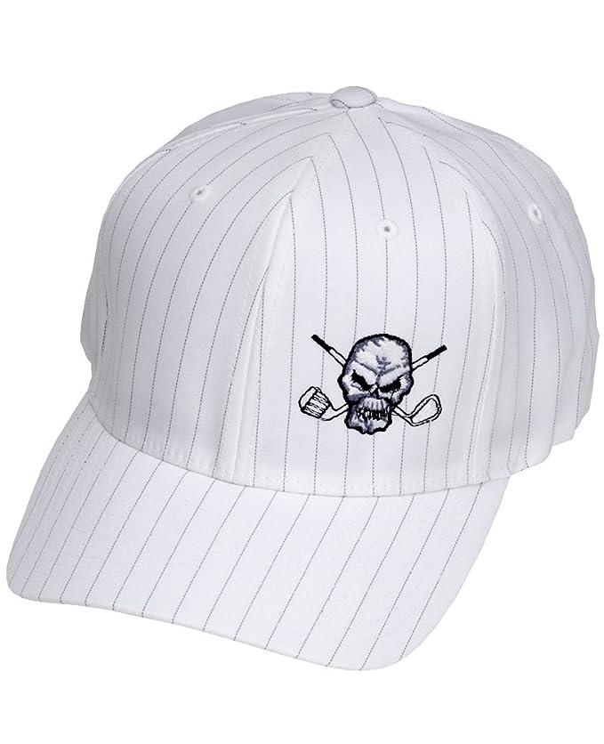 Amazon.com  Tattoo Golf Pinstripe FlexFit Golf Hats - White - S M (6 3 4 - 7  1 4)  Clothing cc357f0bee3b
