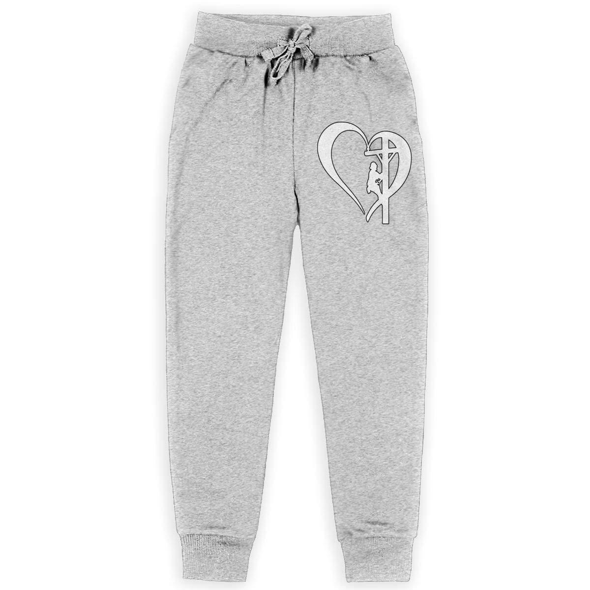 I Love My Lineman Active Jogger Pants Boys Sweatpants