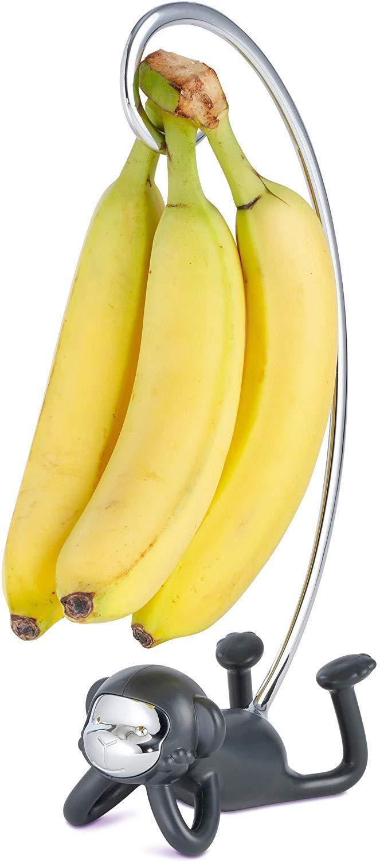 Monkey Banana Hanger - Banana Holder Stand that Keeps Bananas from Bruising - 12.5 inches Banana Tree that Doesn't Tip Over